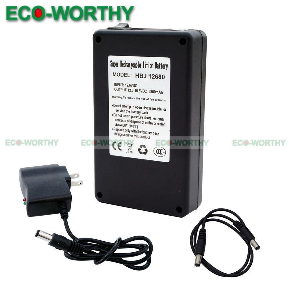 12 volt 6800mah rechargeable li ion battery pack charger for digital products ebay. Black Bedroom Furniture Sets. Home Design Ideas