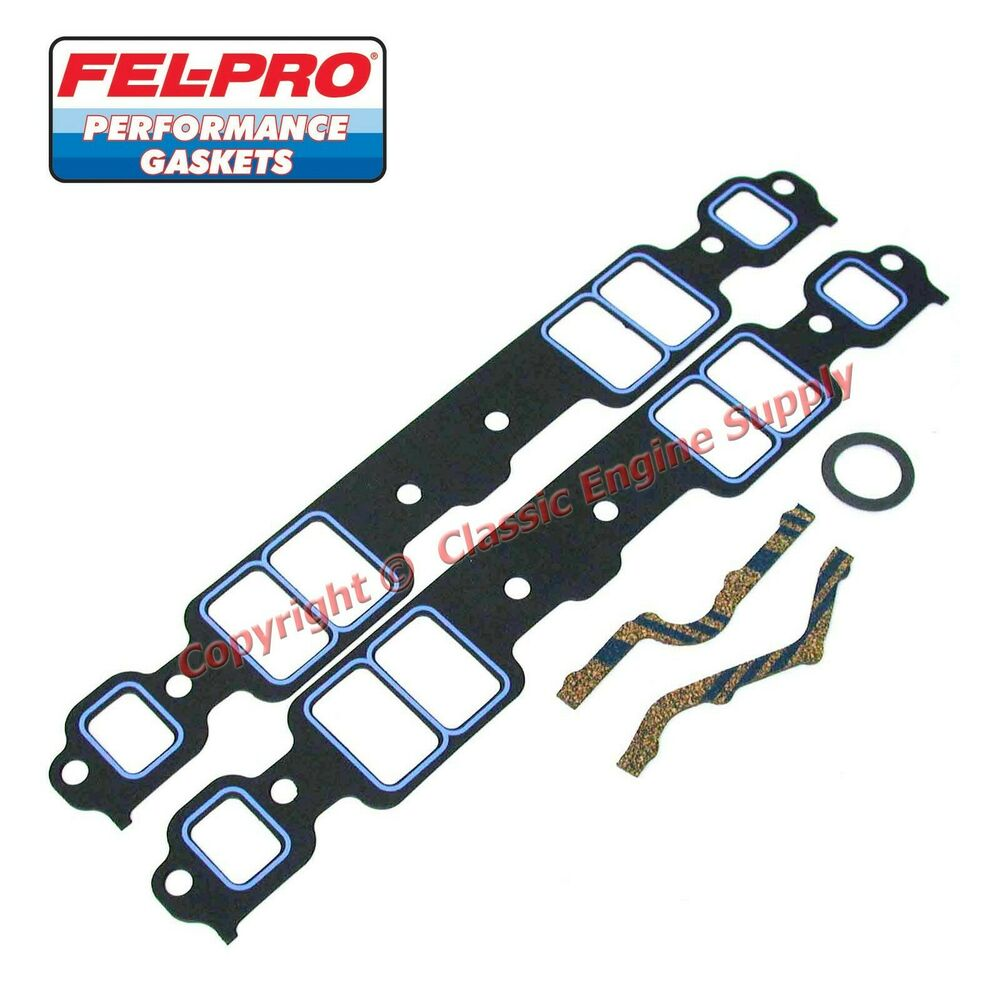 New Set Of Fel Pro 1205 Intake Manifold Gaskets Chevy Sb