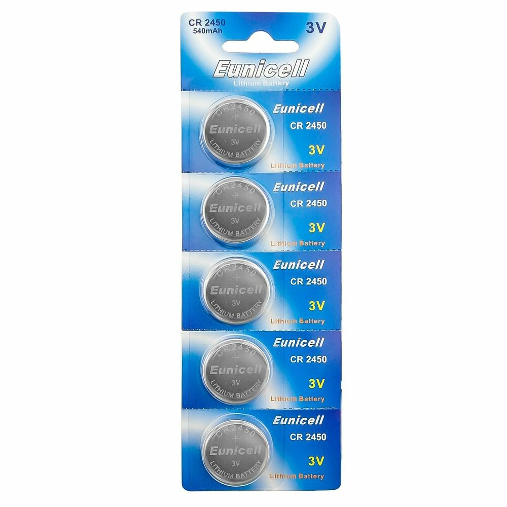 5 x eunicell cr2450 3v lithium batteries br2450 dl2450 button cell battery ebay. Black Bedroom Furniture Sets. Home Design Ideas