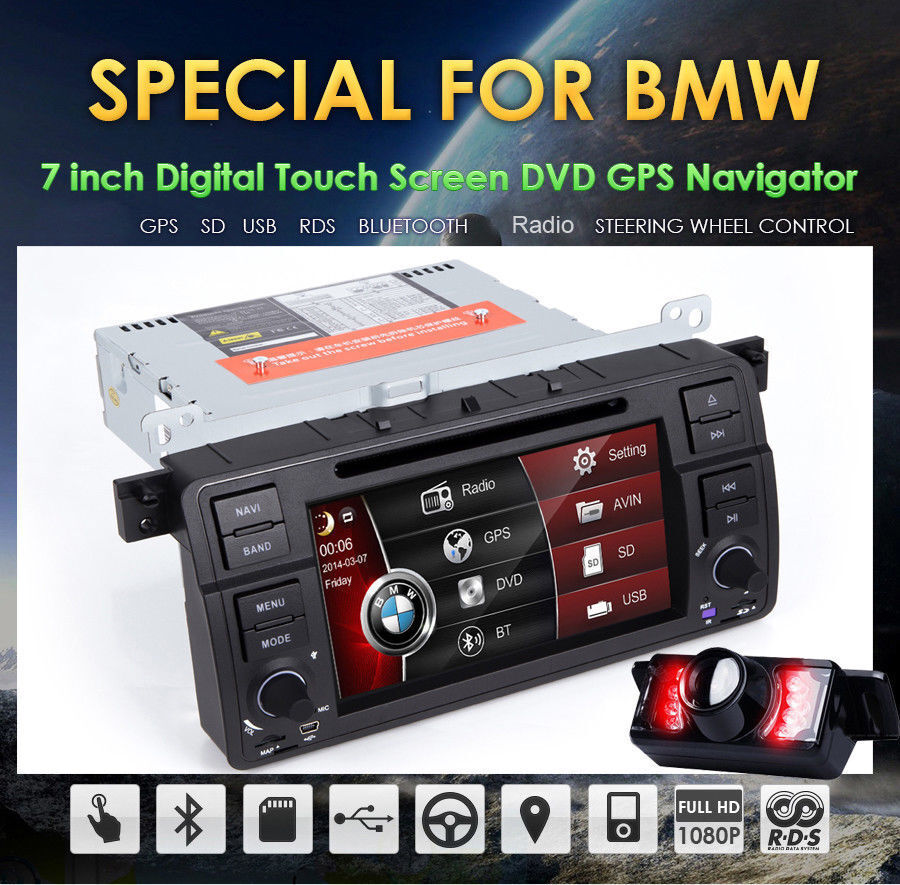 bmw 3 series e46 1998 2005 car dvd player gps nav stereo. Black Bedroom Furniture Sets. Home Design Ideas