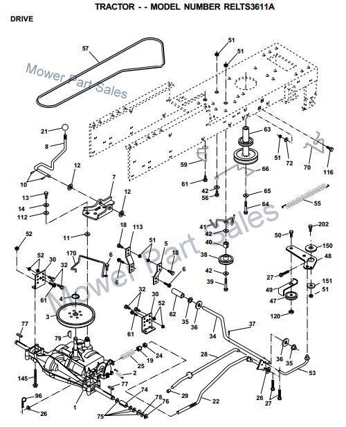 Diagrammes as well Mtd 800 Series Automatic Garden Tractor Lawn Mower Parts List besides Mowing Deck Assembly together with 120745 Starter Solenoid Circuit in addition Mtd 620 Hydrostatic Lawn Tractor Mower Parts List. on yardman riding mower