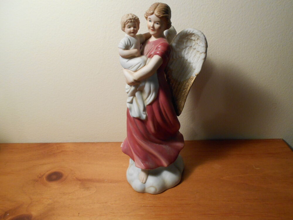 1414 angel and baby victorian figurine vintage home Home interiors figurines homco