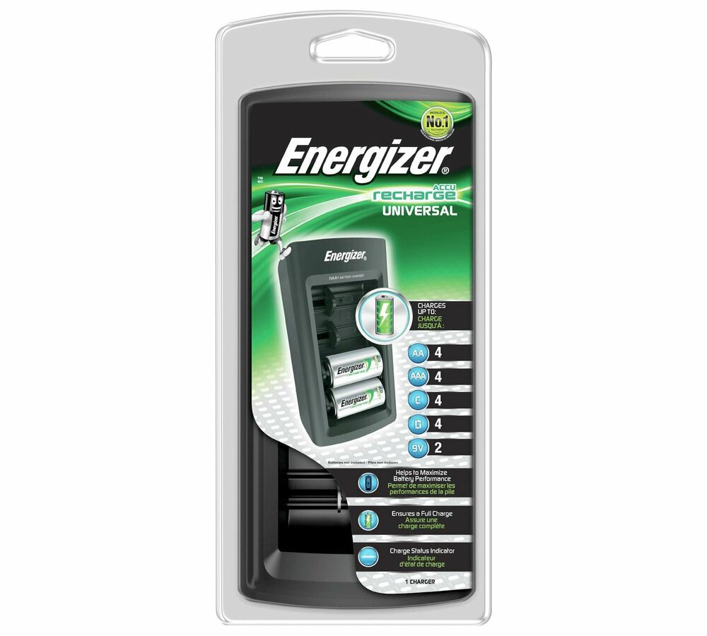 energizer universal battery multi charger charges aaa aa. Black Bedroom Furniture Sets. Home Design Ideas