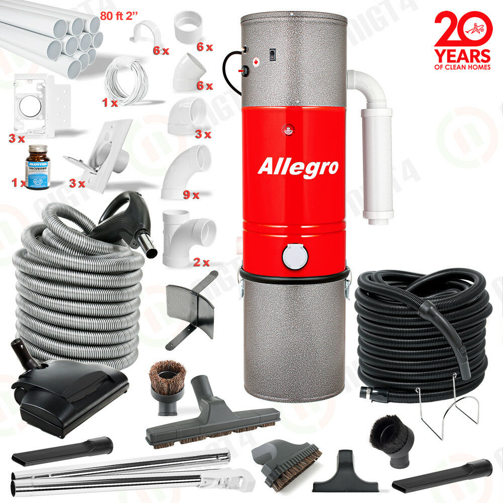 Allegro central vacuum complete system new home pkg ebay for Allegro home