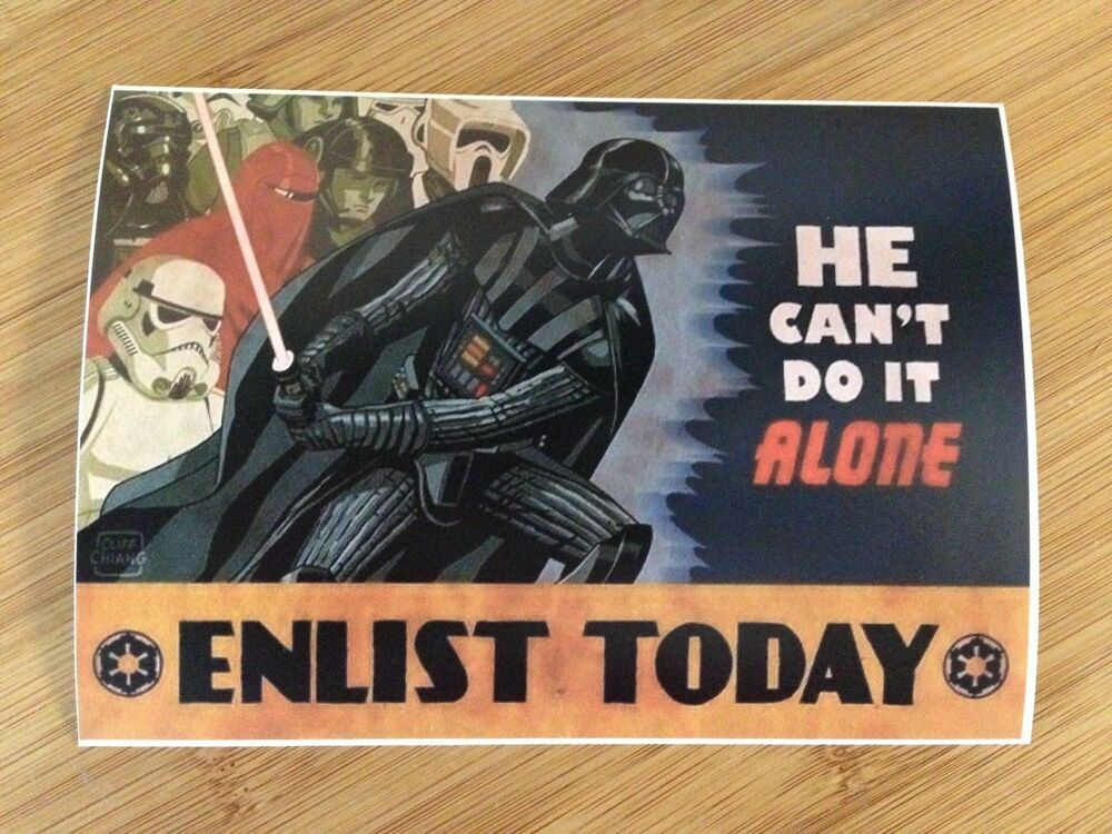 Enlist Today Darth Vader Sticker Decal Star Wars