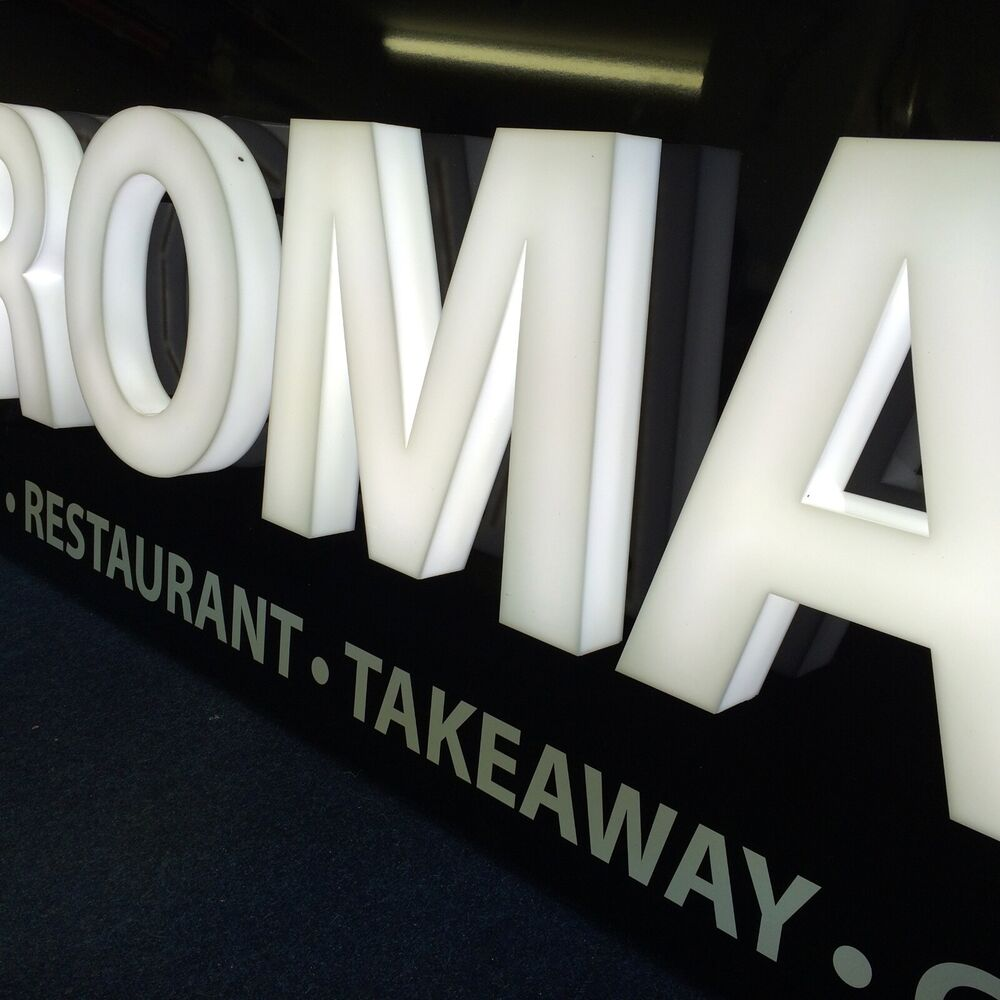 plastic letters for signs illuminated built up acrylic 3d letters amp shapes any size 24014 | s l1000