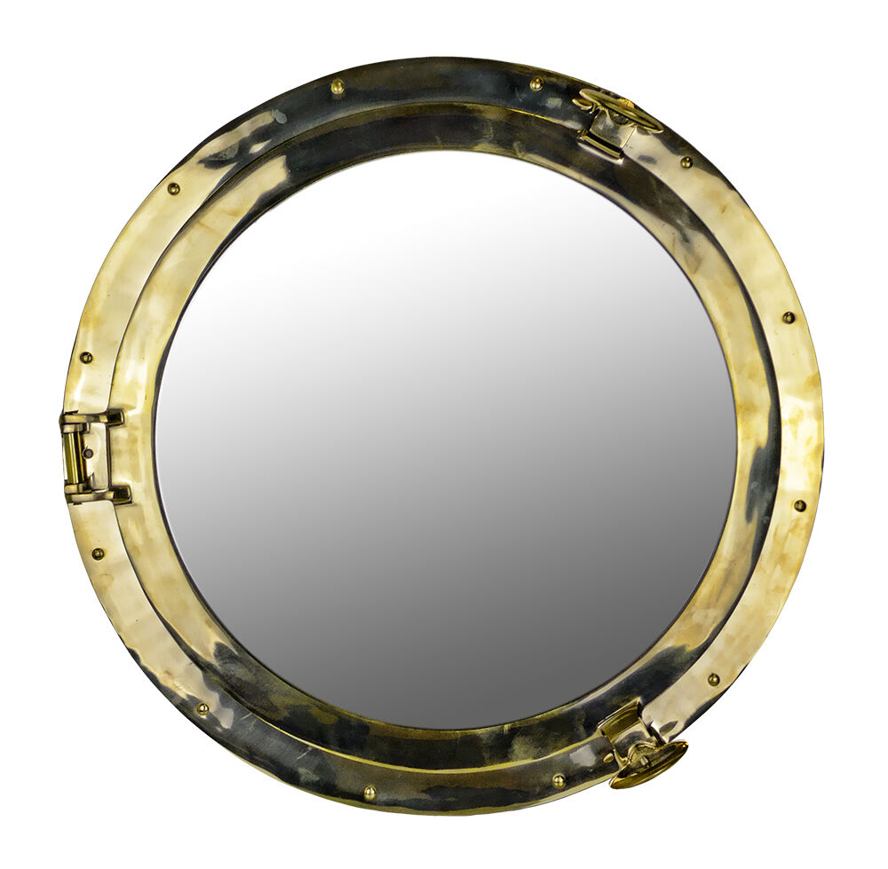 24 Quot D Solid Brass Wall Mount Porthole Mirror Nautical Ship