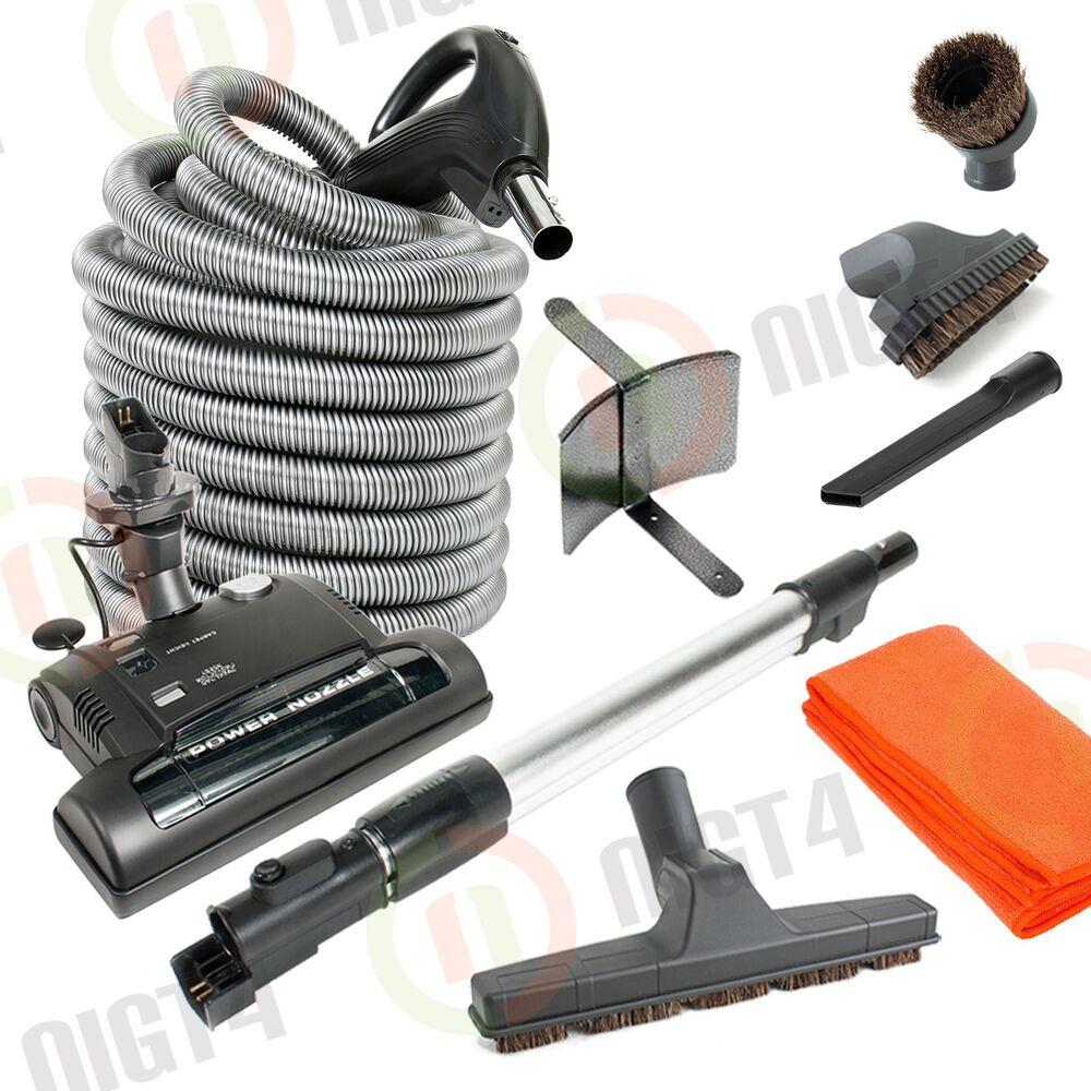 Electric Central Vacuum Kit W Power Head Hose