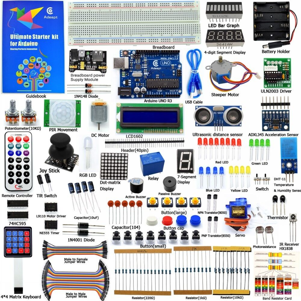 Adeept new ultimate starter learning kit for arduino uno