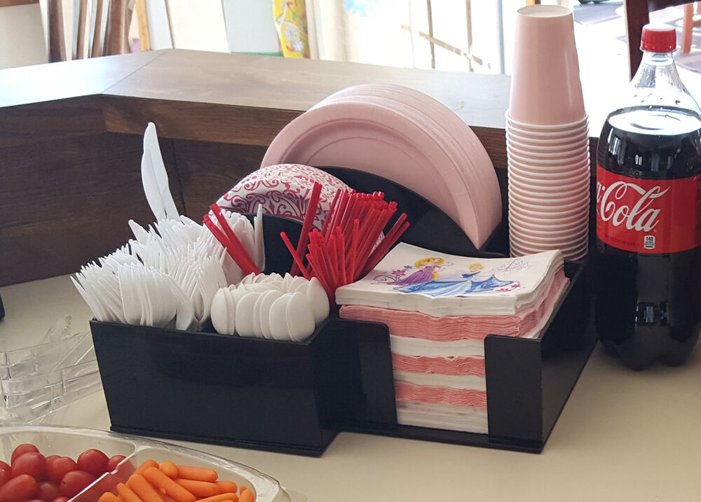 paper plate bowl cup dispenser BBQ Picnic storage holder party ...