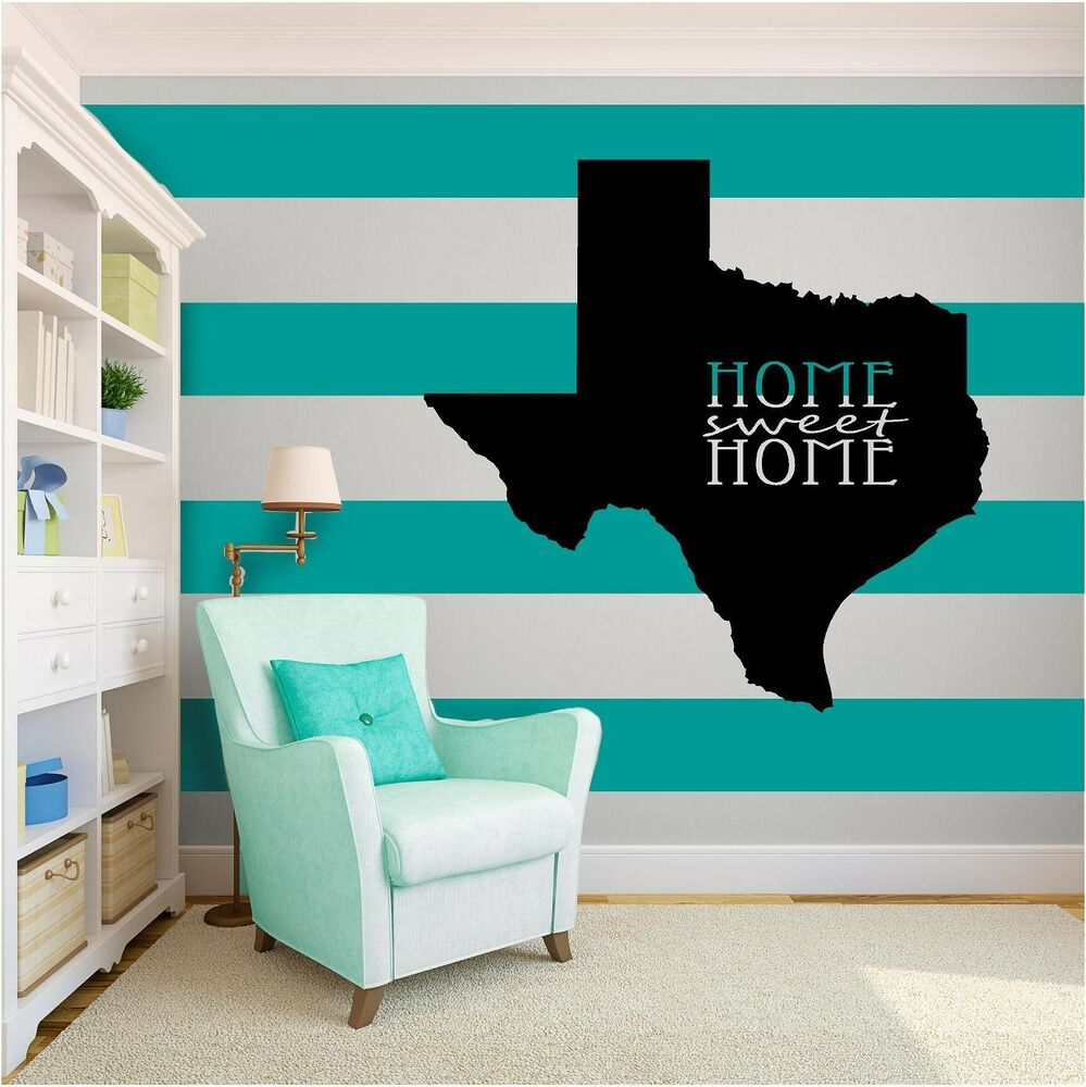 Texas Home Decor: Texas Home Sweet Love Inspirational Vinyl Wall Art Quote