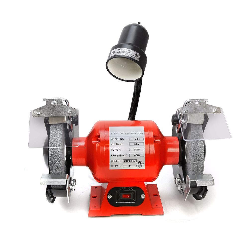 8 Quot Bench Grinder With Light Bright Flexible Work Light