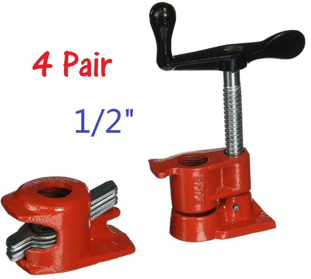 Pack quot wood gluing pipe clamp set heavy duty pro