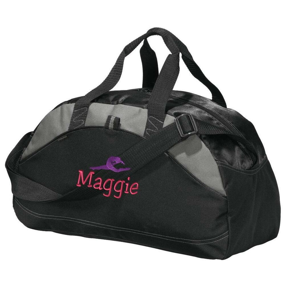 gymnastics duffel bag personalized bag embroidered