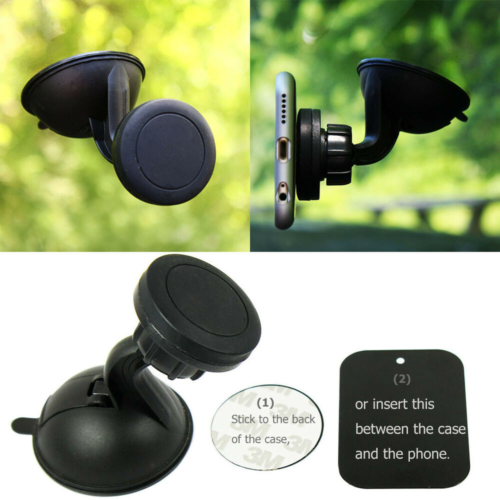 360 u00ba magnetic car windshield mount holder with suction cup