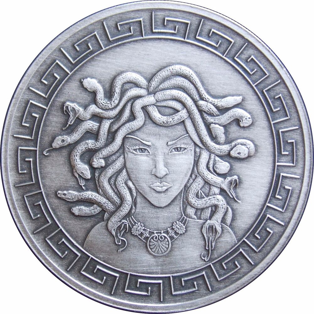 New 1 Oz 999 Silver Coin Medusa Greek Mythology Girl