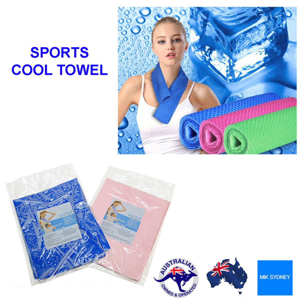 Sports Ice Towel: Cool Ice Towel Hiking Camping Towel Absorbing Reusable