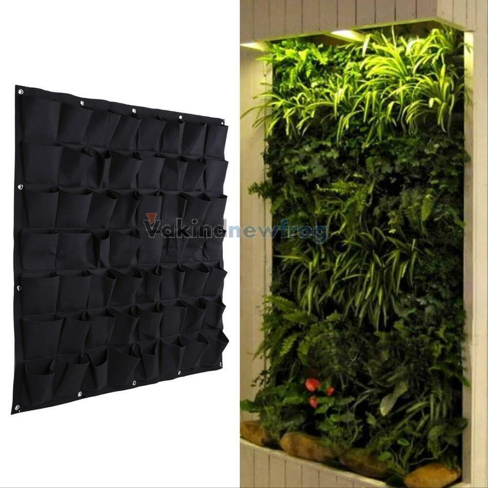 56 pocket garden vertical planter wall mount living for Plant de pot exterieur