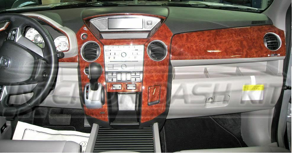 honda pilot ex lx ex l touring interior burl wood dash trim kit set 09 2010 2011 ebay. Black Bedroom Furniture Sets. Home Design Ideas