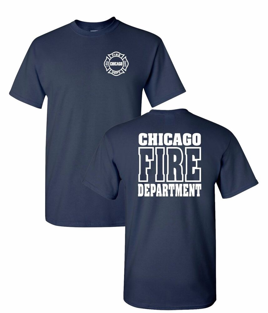 Chicago Fire Department 2-Sided Job Shirt-10837-10868 | EBay