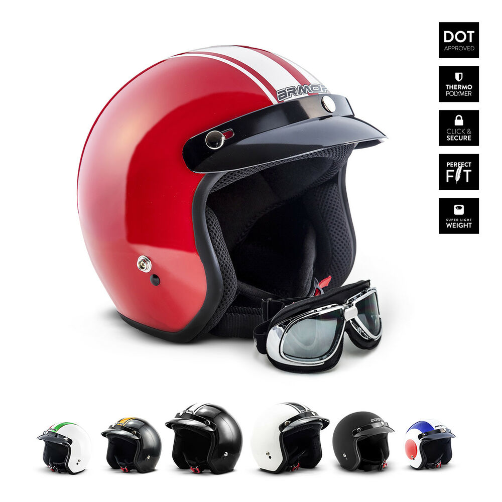 armor av 47 jet helm vespa retro motorrad roller helm xs. Black Bedroom Furniture Sets. Home Design Ideas