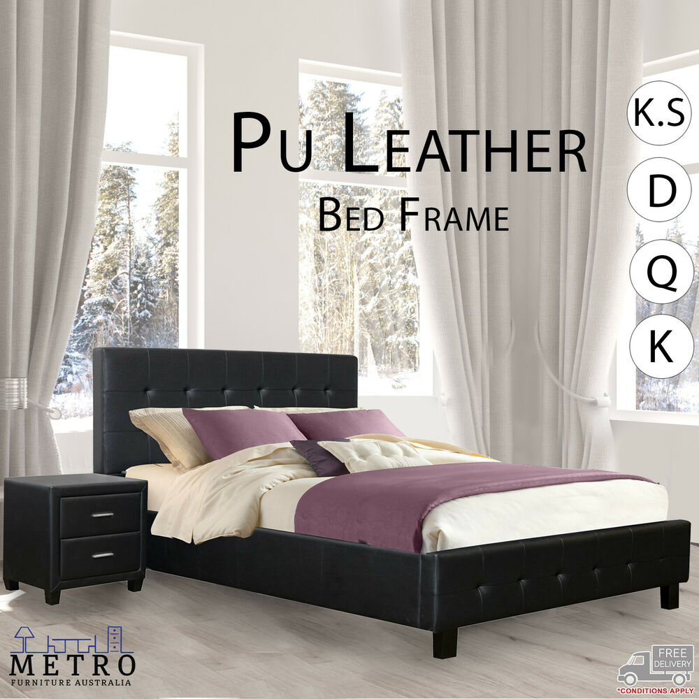 New lattice best quality pu leather bed frame single ks for Good quality single beds