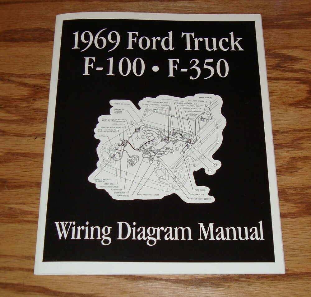 1969 Ford Truck F100 - F350 Wiring Diagram Manual Brochure ...