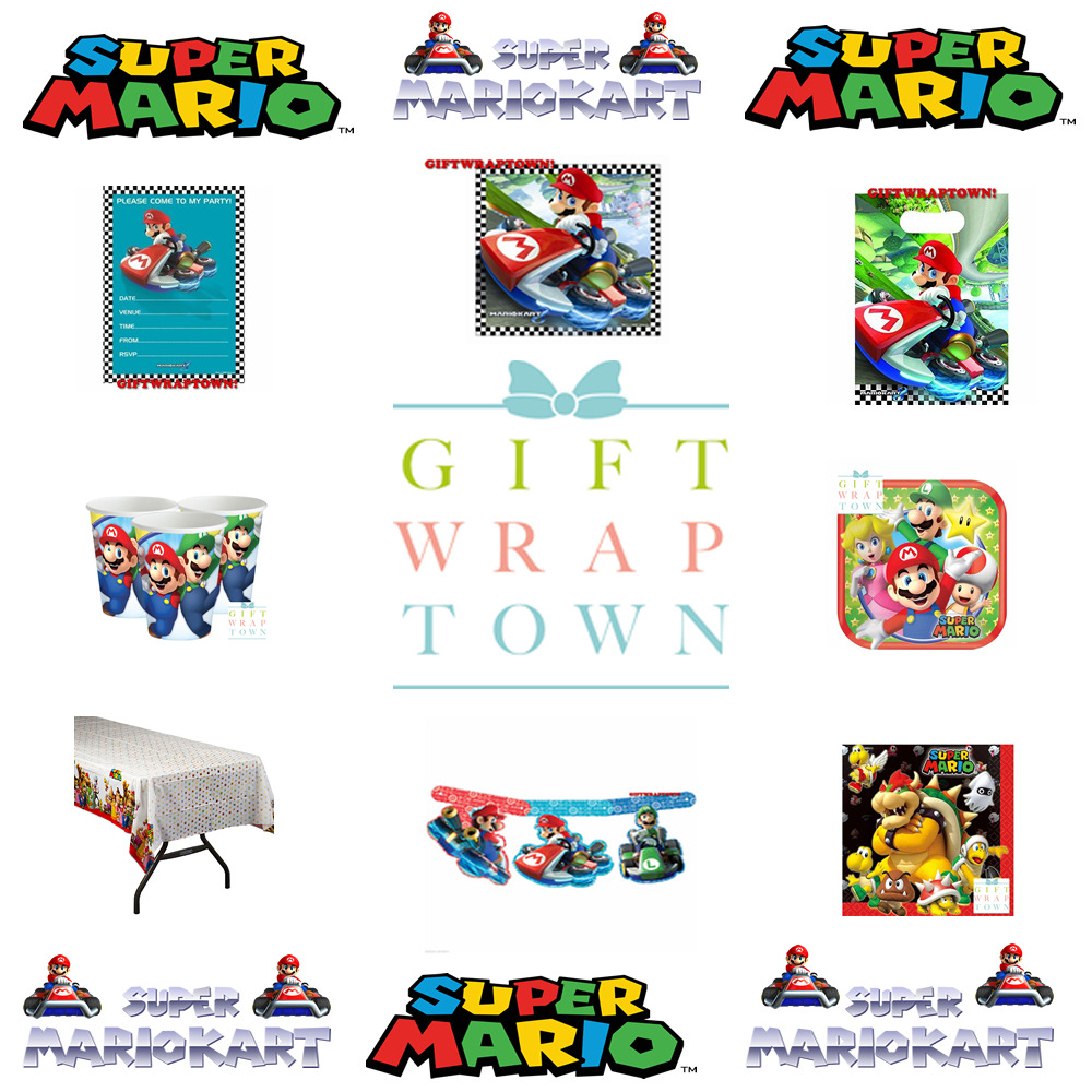 SUPER MARIO AND MARIO KART NINTENDO PARTY SUPPLIES - CUPS, PLATES ...