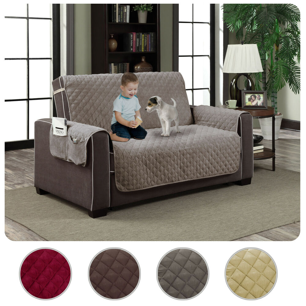 Slipcover Microfiber Reversible Pet Dog Couch Protector
