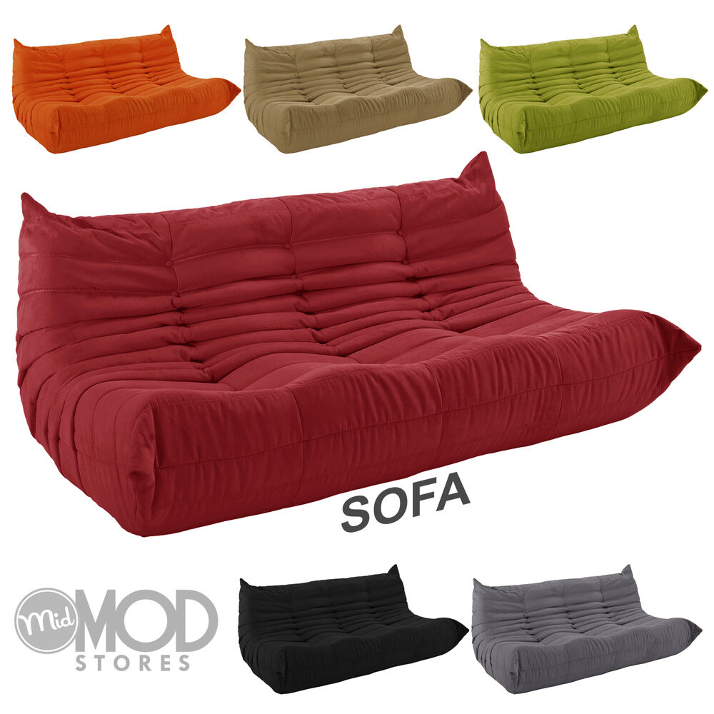 downlow sofa mid century sofa modern sofa fabric couch low profile sofa colors ebay. Black Bedroom Furniture Sets. Home Design Ideas