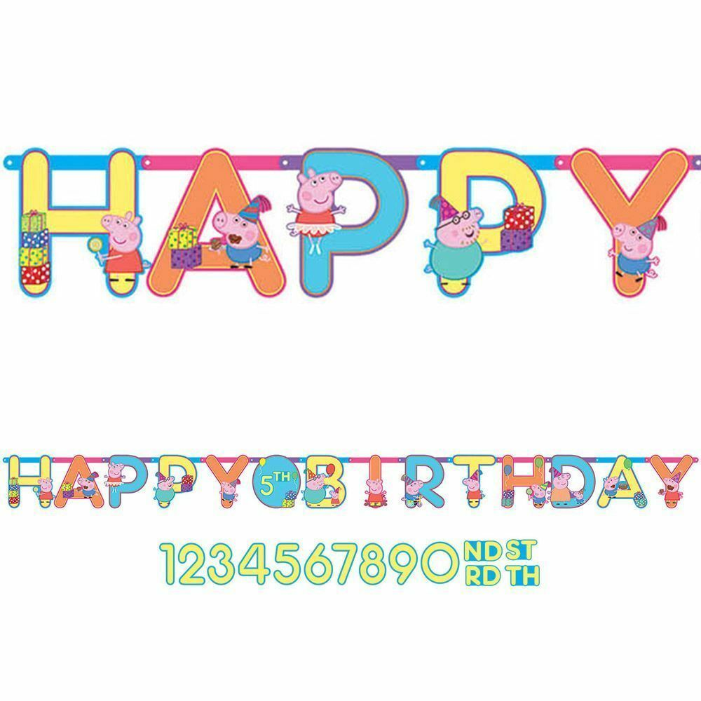 Peppa Pig Banner Peppa Pig Birthday Banner By: NEW Peppa Pig Jumbo Letter Banner Kit -Add An Age Birthday