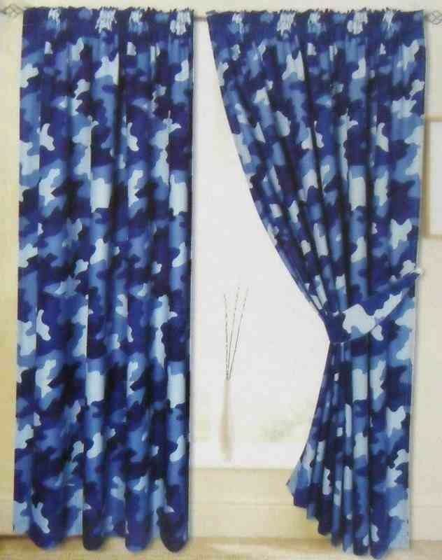 Camo blackout curtains