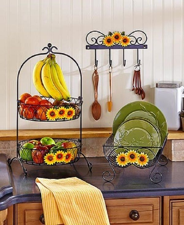 Sunflower Home Decor: Sunflower Country Kitchen Decor Collection Iron Farmhouse