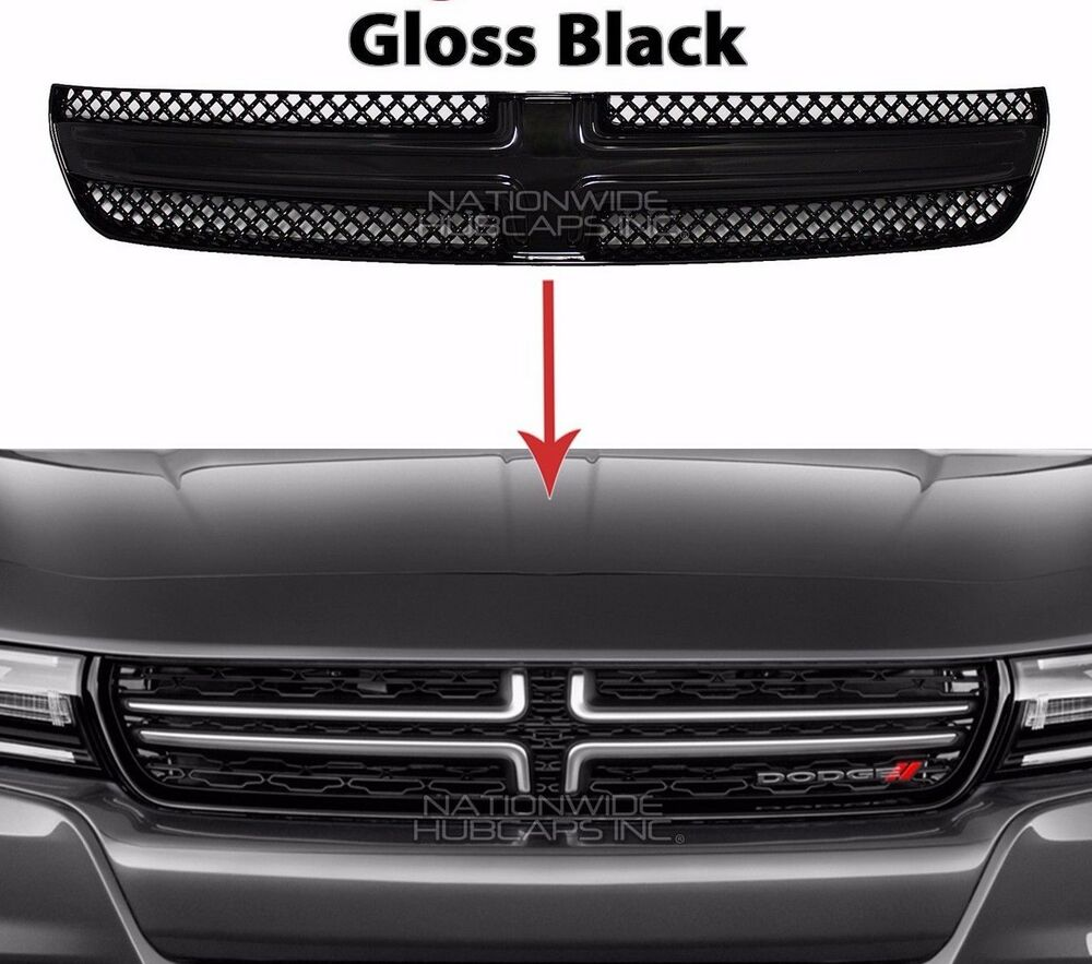 2015 16 dodge charger gloss black grille overlay front. Black Bedroom Furniture Sets. Home Design Ideas