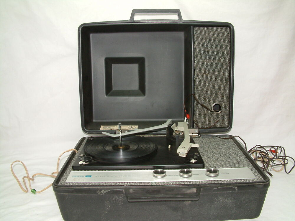 Portable Record Player Turntable Philco Ford Solid