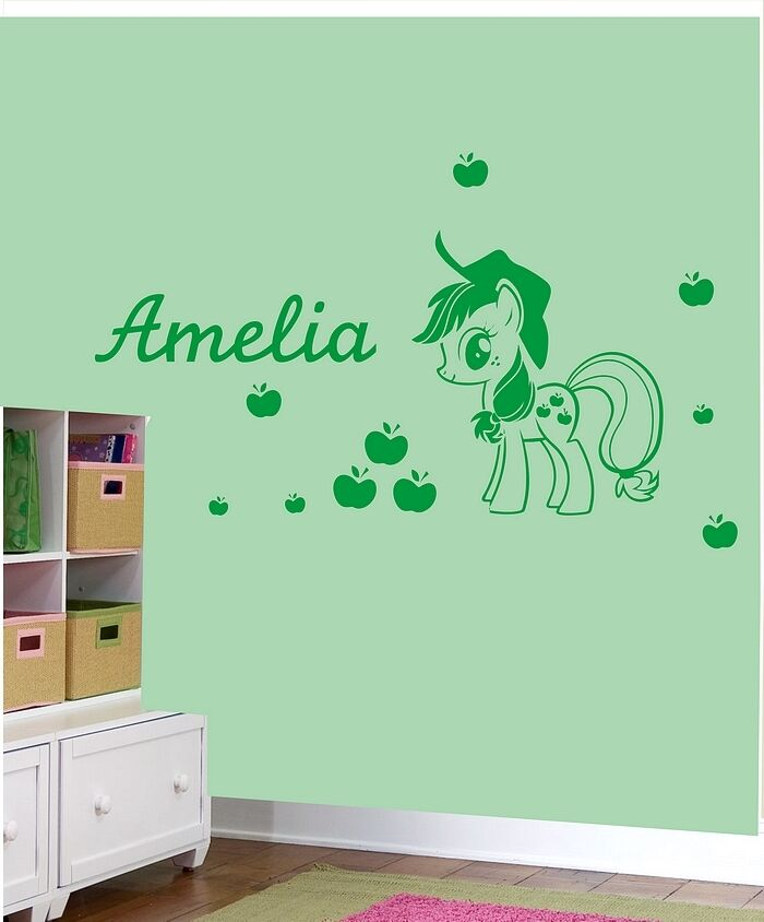 my little pony applejack wall stickers girls name bedroom art decal