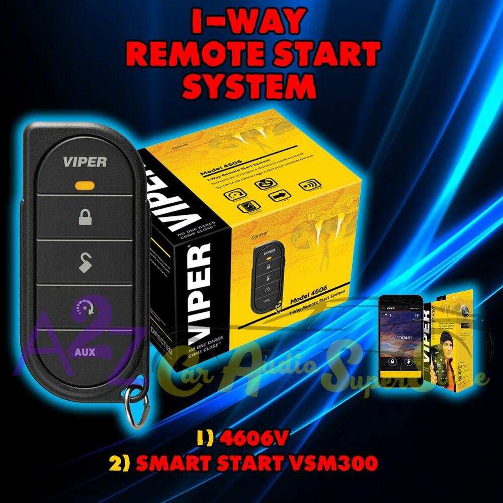 Viper 4606v 1 Way Car Truck Remote Start Keyless Entry Vsm300 5606v Wiring Diagram Smart 93207099304 Ebay