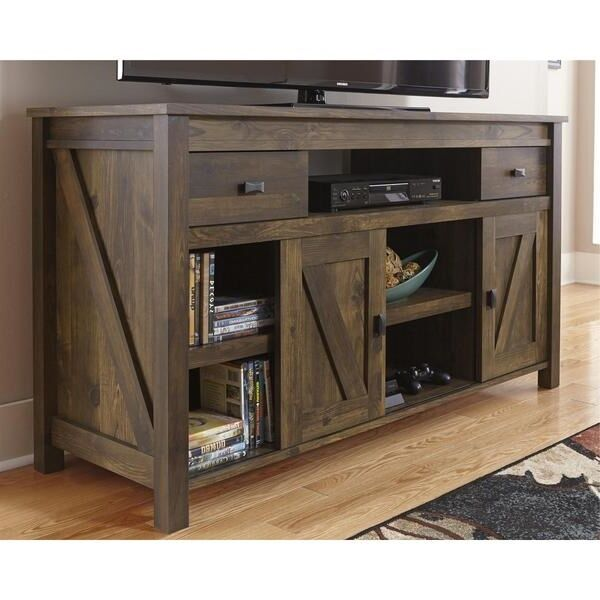 Rustic entertainment center tv stand farmhouse media for Media and tv storage furniture
