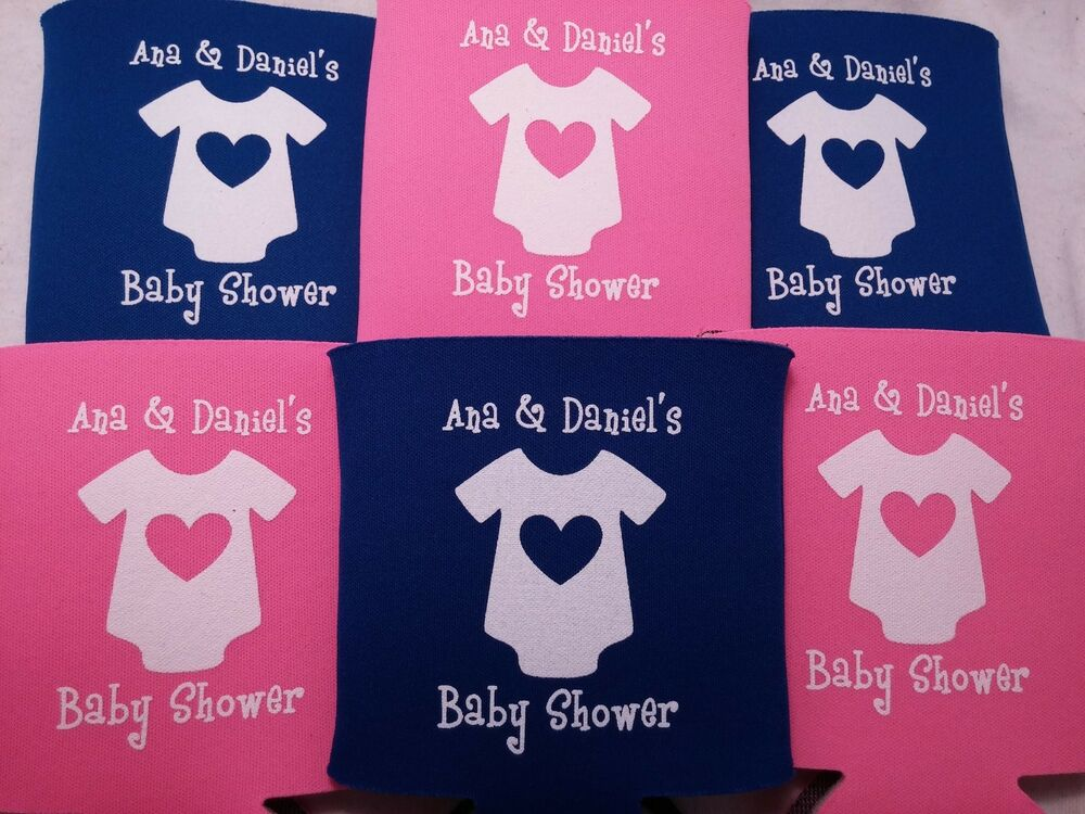 baby shower favors koozies design onesie 12 to 25 custom can coolers
