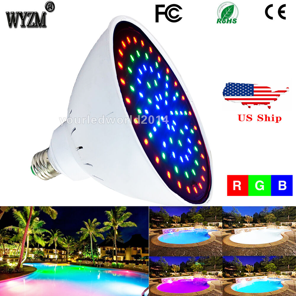 Swimming Pool Replacement Light Fixture : Wyzm v w color change led pool light bulb for pentair