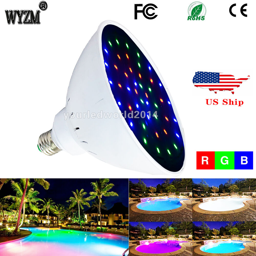 Wyzm 120v 35watt color changing swimming led pool lights - Led swimming pool lights inground ...