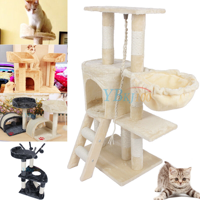 cat tree tower condo furniture scratching post pet kitty. Black Bedroom Furniture Sets. Home Design Ideas