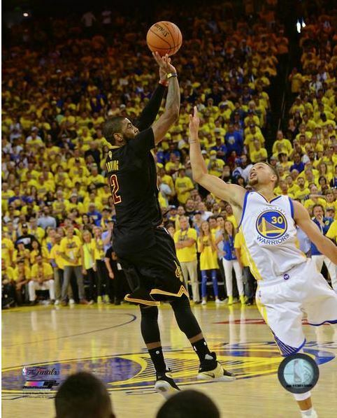 16x20 KYRIE IRVING THE SHOT CLEVELAND CAVS 2016 NBA CHAMPIONS LICENSED PHOTO | eBay
