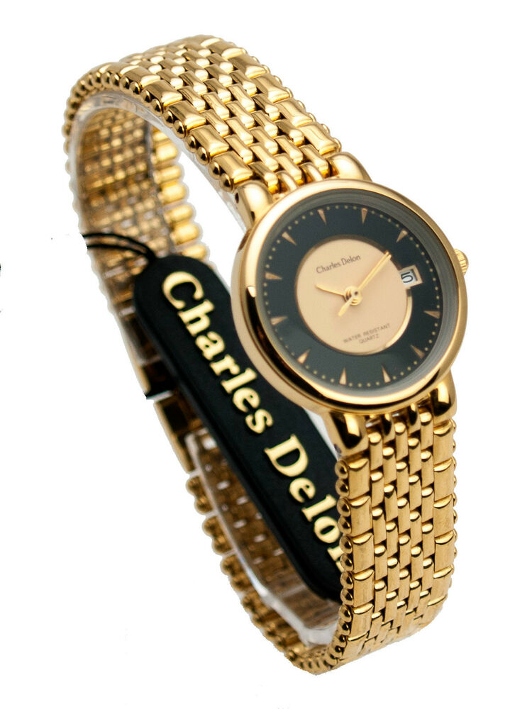 charles delon one micron 22k gold electro plated finish