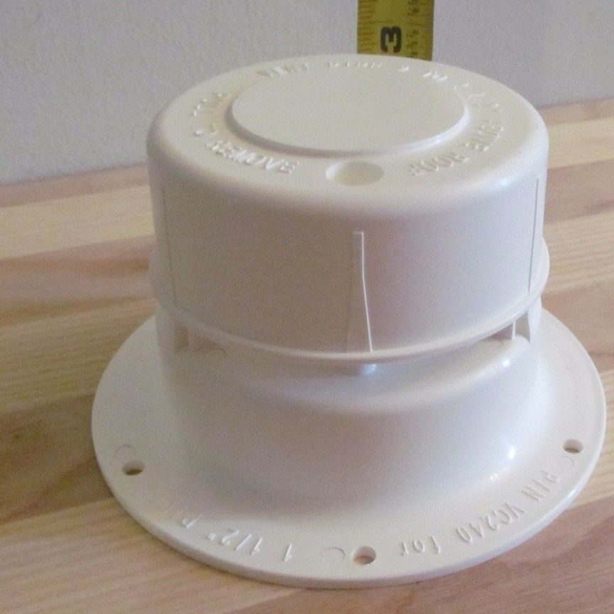 White Plastic Sewer Vent Cap For 1 1 2 Quot Pipe Removable