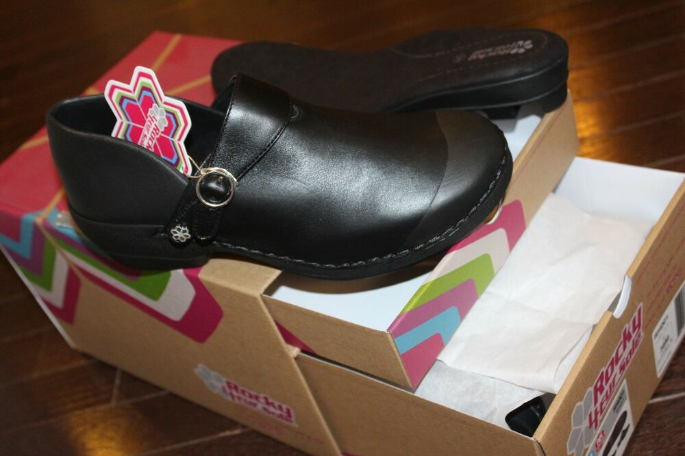4EurSole by Rocky INSPIRE ME RKHY007 Womens Pink Patent Comfort Clogs Slides
