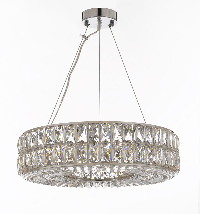 Crystal spiridon ring chandelier modern contemporary for Contemporary lighting pendants