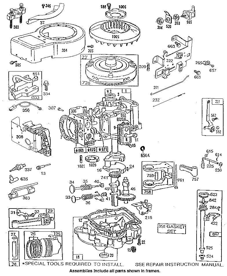 8 hp briggs stratton engine diagram  8  get free image