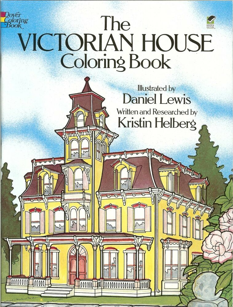 The victorian house coloring book from dover publications for The victoria house