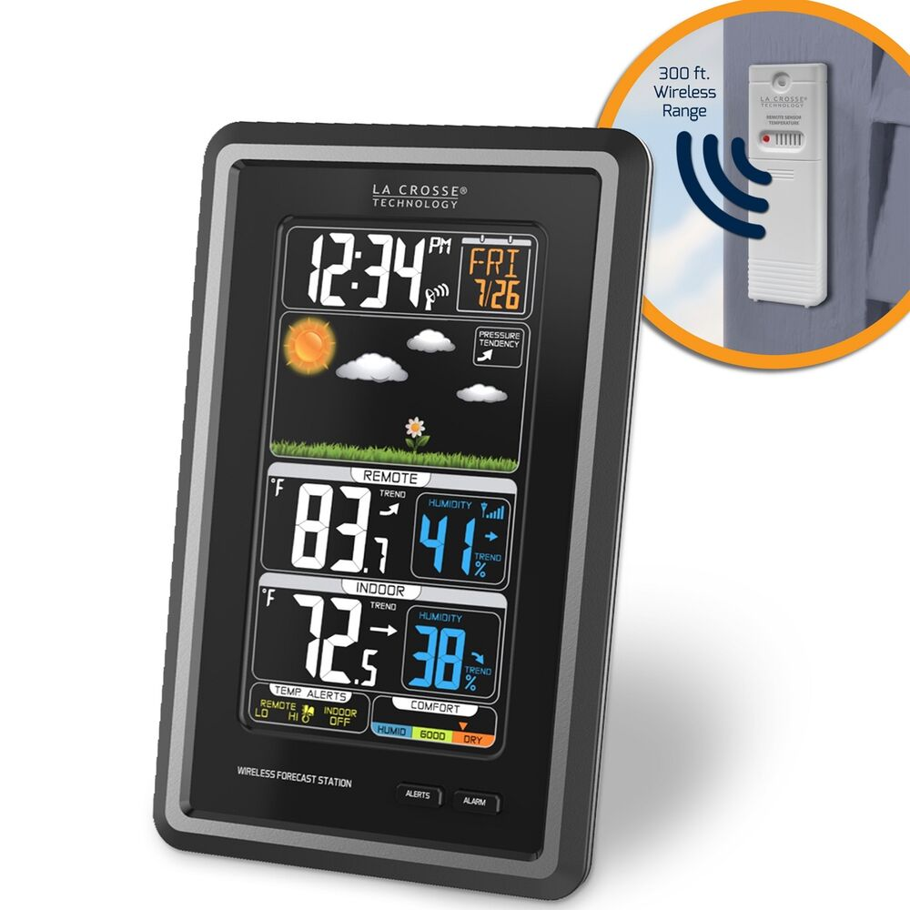 s88907 la crosse technology wireless color weather station with tx141th bv2 nib ebay. Black Bedroom Furniture Sets. Home Design Ideas